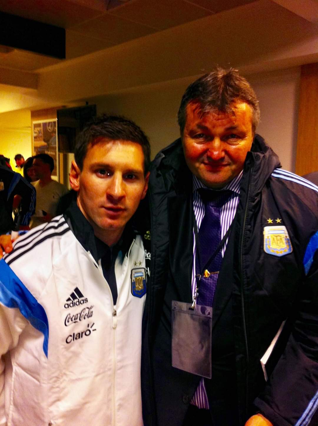 Florin Nedelcu si Lionel Messi