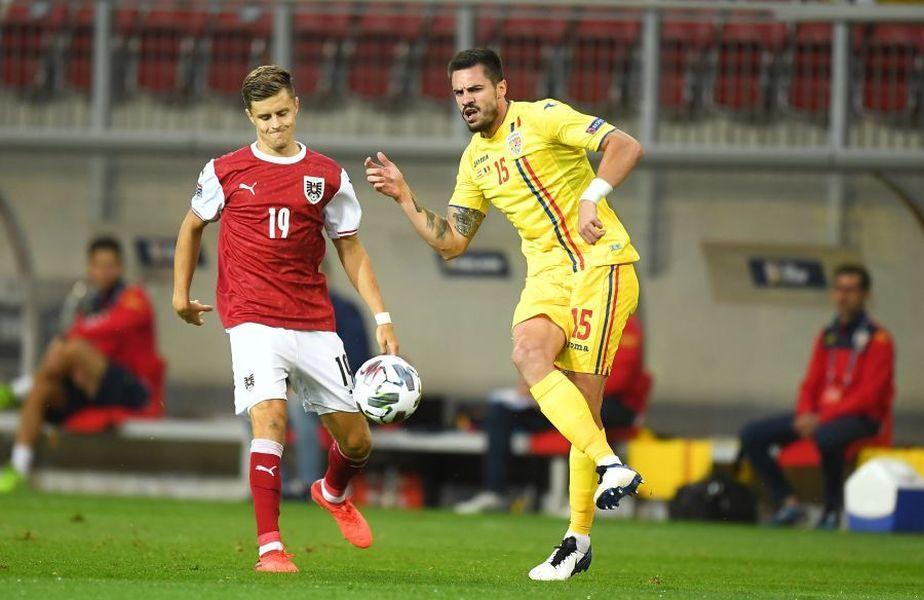 Andrei Burcă a evoluat în barajul Islanda 2-1 România