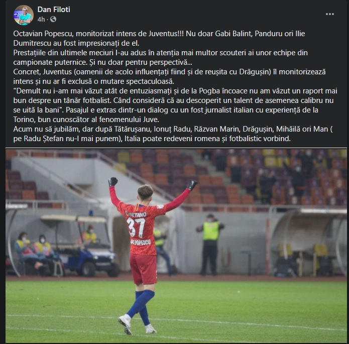 """Octavian Popescu are zilele numărate la FCSB. Echipa uriașă interesată, oficial, de serviciile mijlocașului: """"De la Pogba nu s-a mai întâlnit asta"""""""