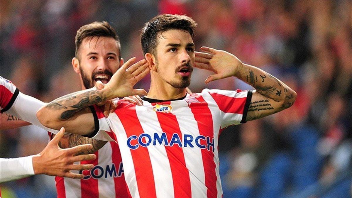 Trei goluri și trei pase decisive are Hanca la Cracovia în acest sezon