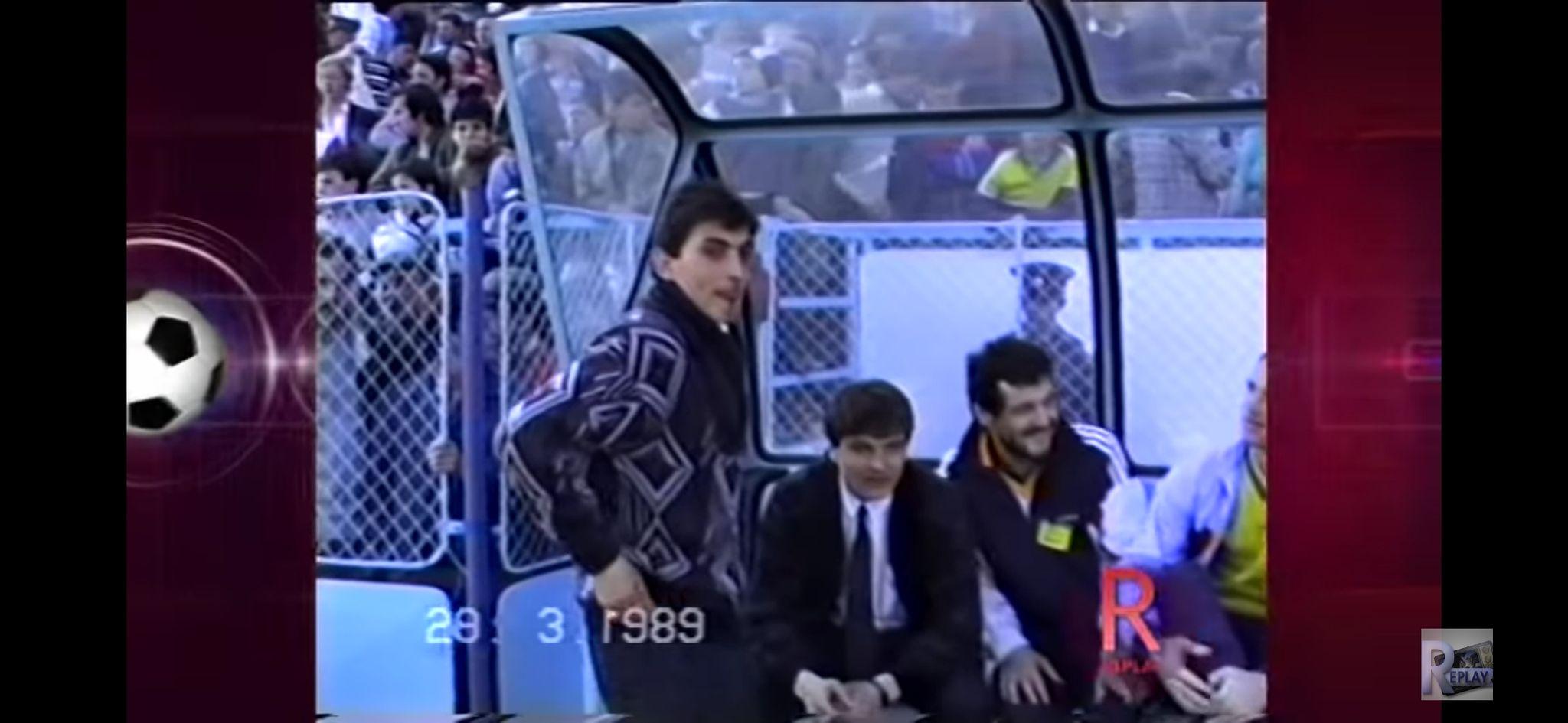 Gigi Becali, pe banca echipei naționale în 1989. Sursa foto: emisiunea Replay de la TVR
