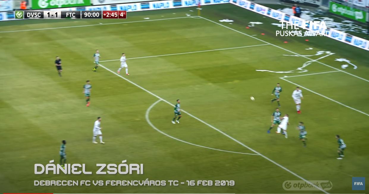 Golul cu care Daniel Zsori câștiga premiul FIFA Puskas