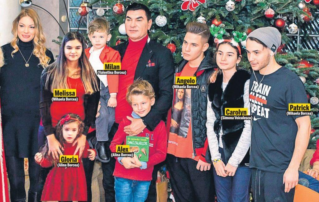 Cristi Borcea lână Valentina Pelinel și 7 din cei 9 copii