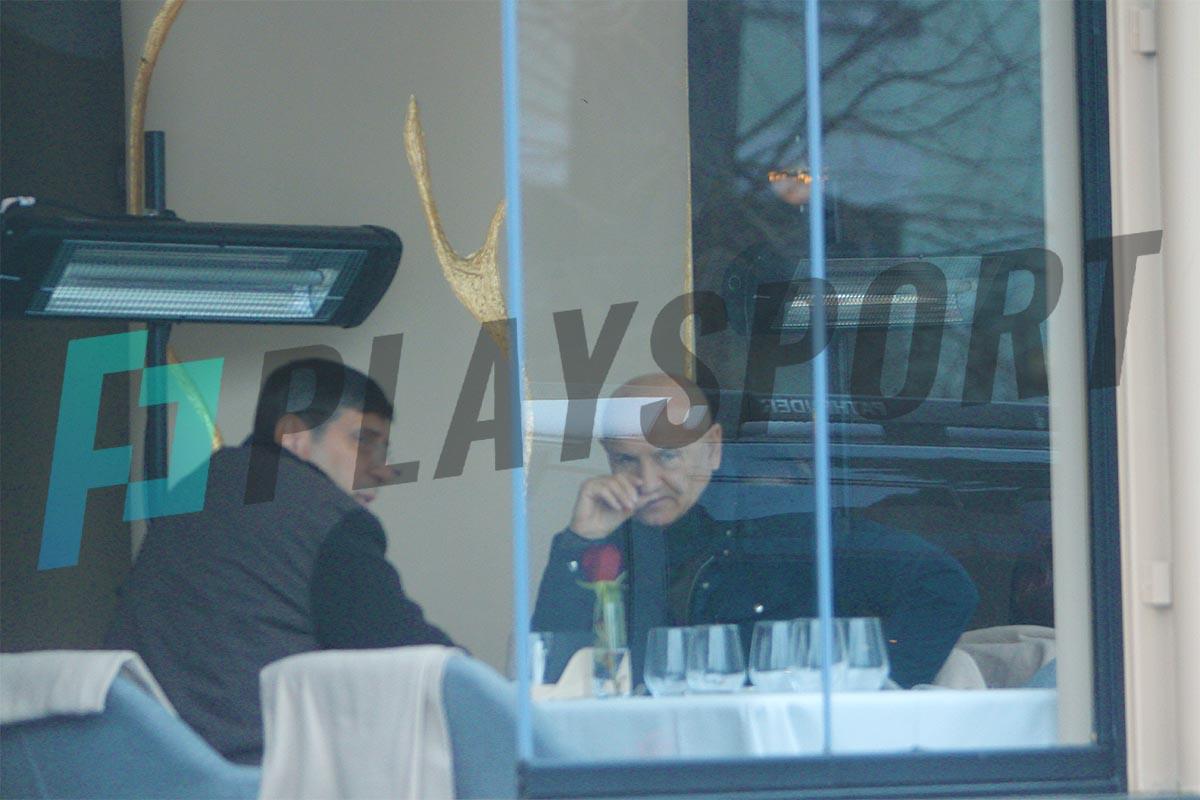 George Copos, întâlnire de afaceri la un restaurant din București