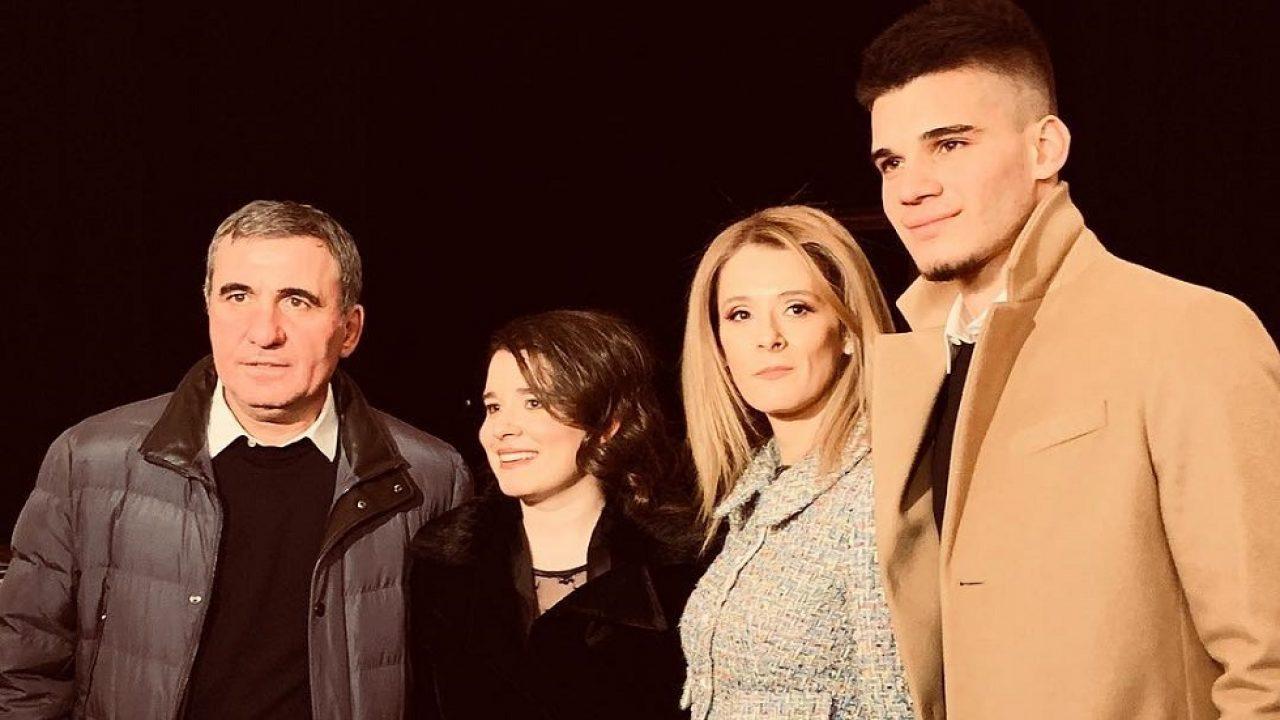 Gică Hagi, soția și cei doi copii