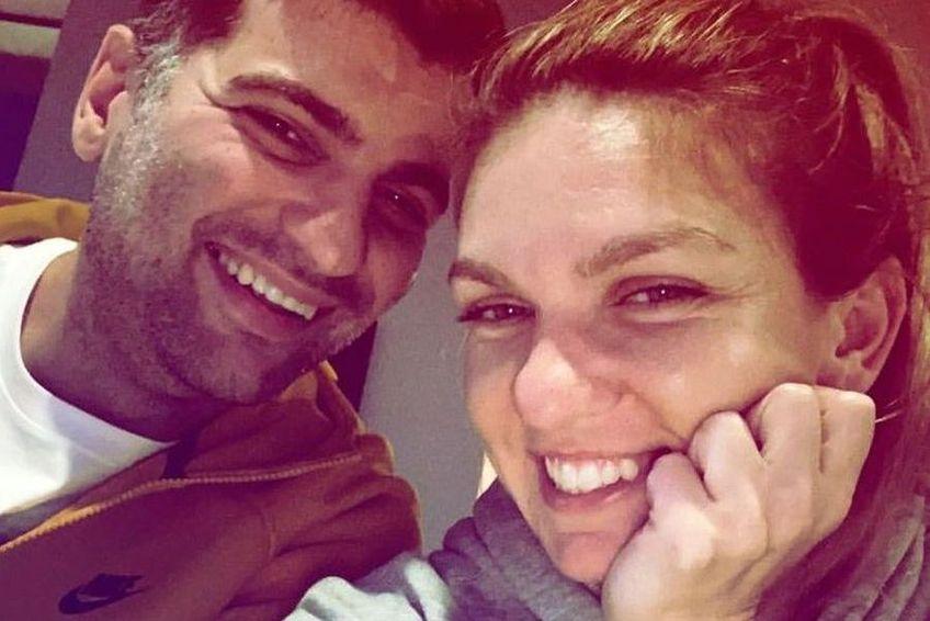Simona Halep, moment intim cu Toni Iuruc