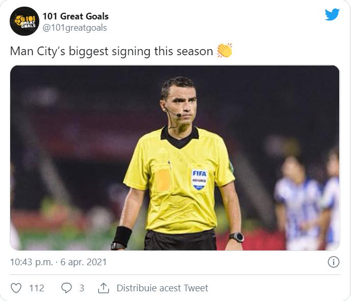 Ovidiu Hațegan, puternic contestat după arbitrajul de la Manchester City - Borussia Dortmund