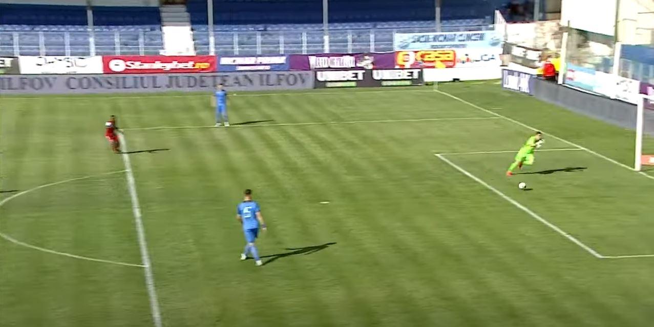 Florin Achim a marcat un autogol a la Bănel Nicoliță