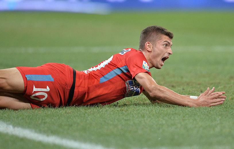 Florin Tănase a deschis scorul cu CFR Cluj din penalty