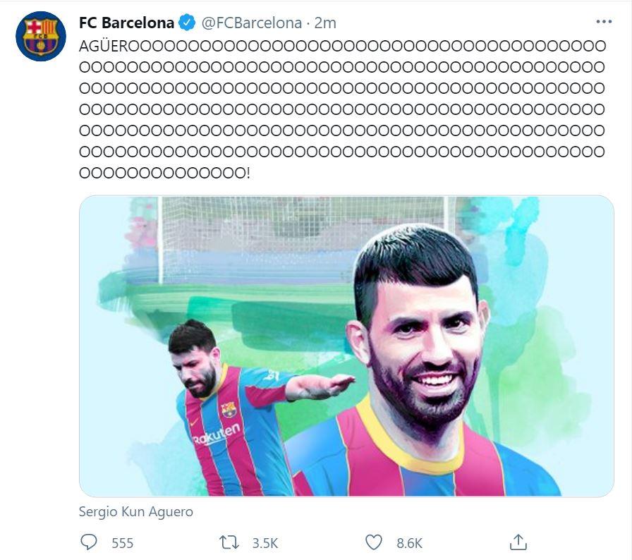 Aguero a semnat cu Barcelona