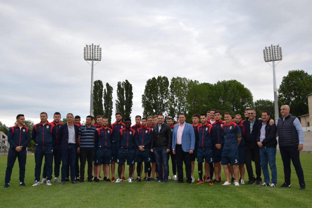 Un municipiu din Romania vrea sa devina o forta in Liga 1! Staff-ul si jucatorii de la Chindia au fost pe stadionul de 10 milioane de euro