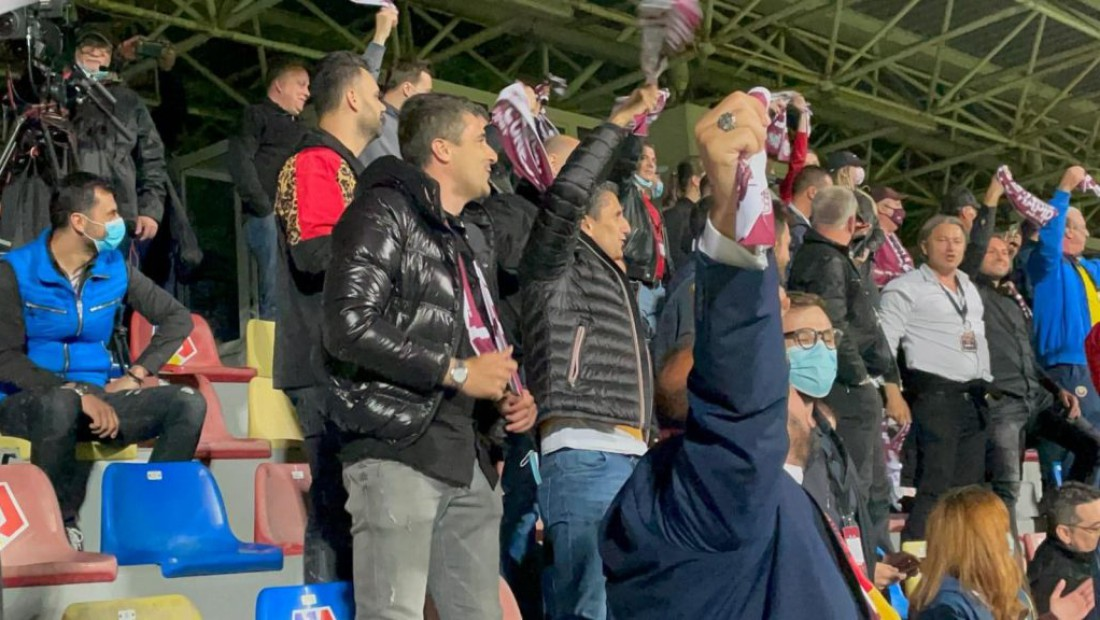 Razvan Lucescu tribune Rapid